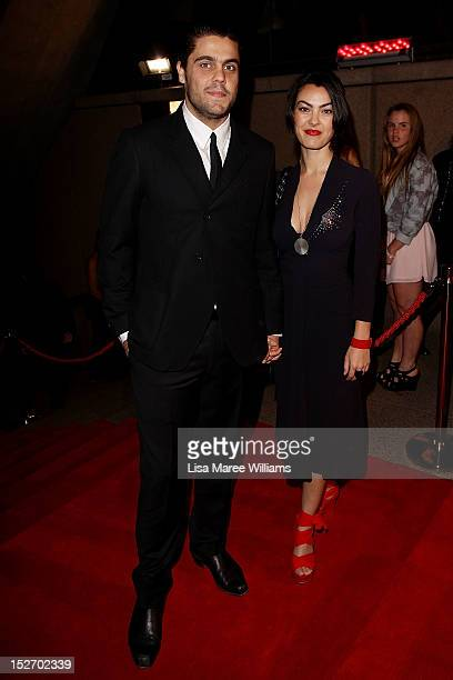 Dan Sultan and Jade Blair arrives at the 2012 Helpmann Awards at the Sydney Opera House on September 24 2012 in Sydney Australia