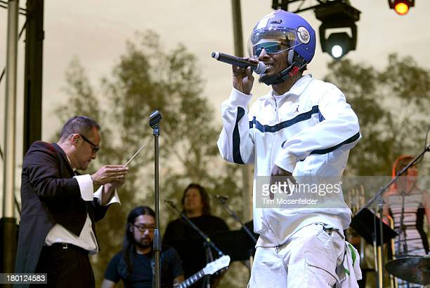 Dan the Automator and Del the Funky Homosapien of Deltron 3030 perform as part of the Rock the Bells Tenth Anniversary at San Manuel Amphitheatre on...