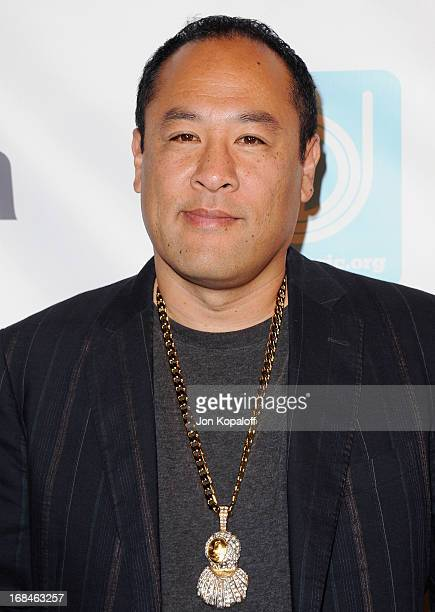 Dan the Automator arrives at the NARM Music Biz 2013 Awards Dinner Party at the Hyatt Regency Century Plaza on May 9 2013 in Century City California