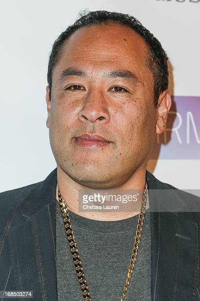 Dan the Automator arrives at the NARM Music Biz Awards dinner party at the Hyatt Regency Century Plaza on May 9 2013 in Century City California