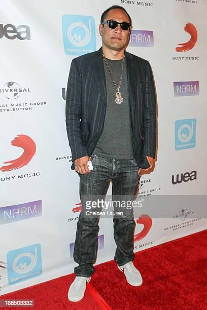 Dan the Automator arrives at the NARM Music Biz Awards dinner party at the Hyatt Regency Century Plaza on May 9 2013 in Century City California