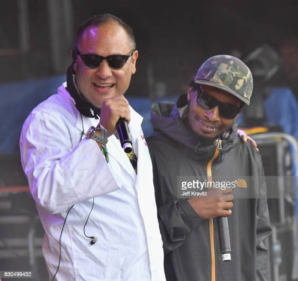 Dan the Automator of Dr Octagon and Del the Funky Homosapien perform on Lands End Stage during the 2017 Outside Lands Music And Arts Festival at...