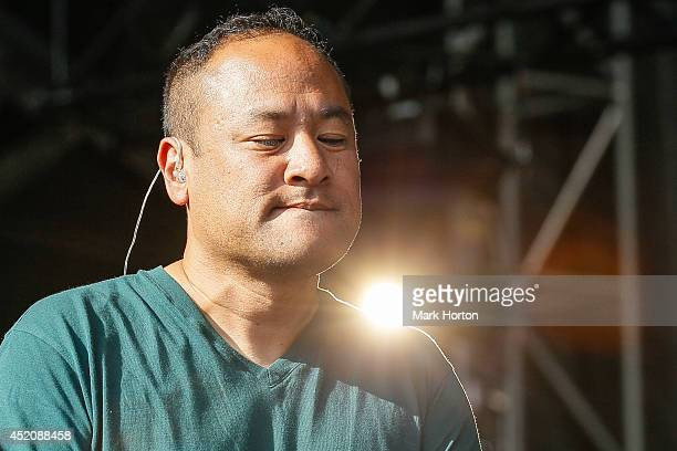 Dan the Automator performs with Deltron 3030 on Day 9 of the RBC Royal Bank Bluesfest on July 12 2014 in Ottawa Canada