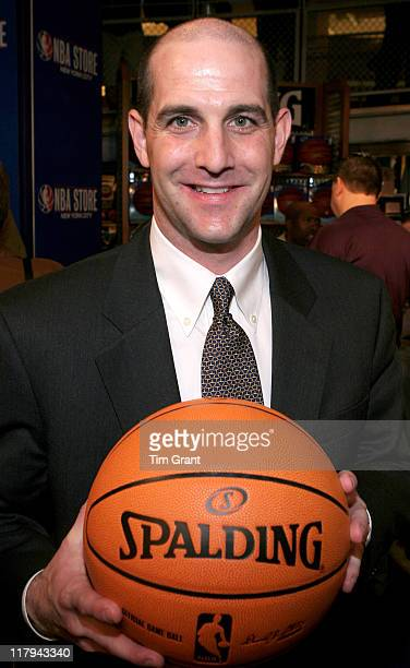 Dan Touhey at a news conference to unveil the new NBA ball at the NBA Store in New York City, New York on June 28, 2006