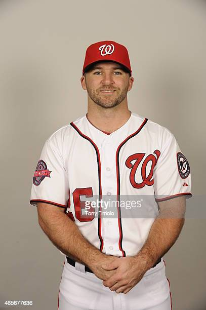Dan Uggla of the Washington Nationals poses during Photo Day on Sunday March 1 2015 at Space Coast Stadium in Viera Florida