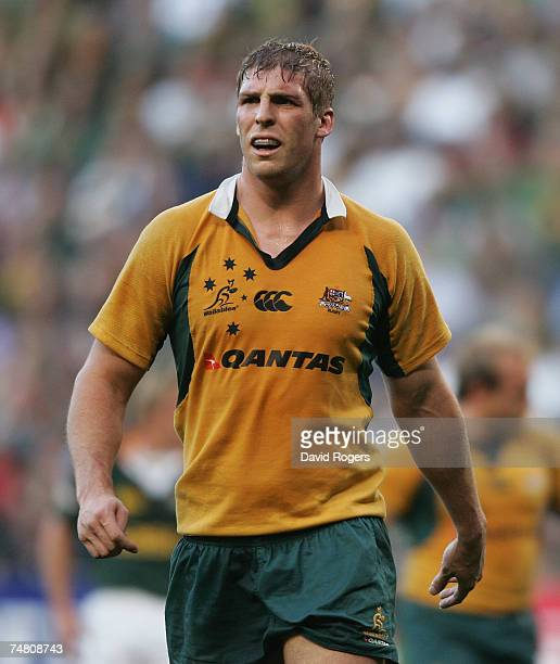 Dan Vickerman of Australia pictured during the 2007 Tri Nations match between South Africa and Australia at Newlands Stadium on June 16 2007 in Cape...