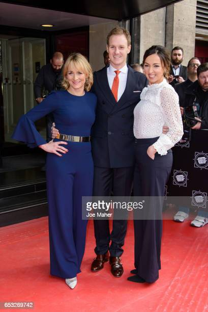 Dan Walker, Louise Minchin and Sally Nugent attend the TRIC Awards 2017 on March 14, 2017 in London, United Kingdom.