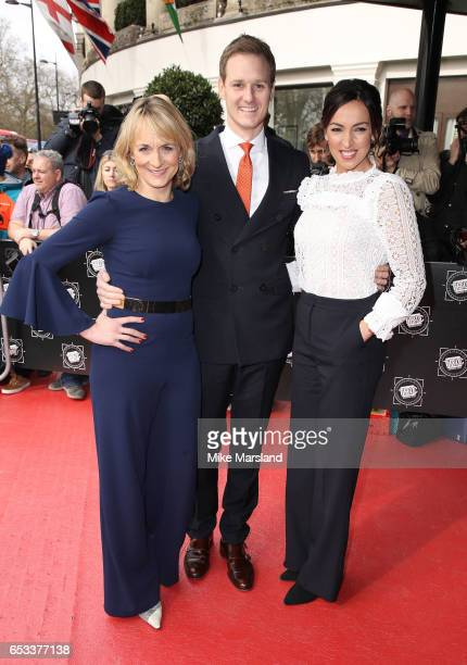 Dan Walker Louise Minchin and Sally Nugent attend the TRIC Awards 2017 on March 14 2017 in London United Kingdom