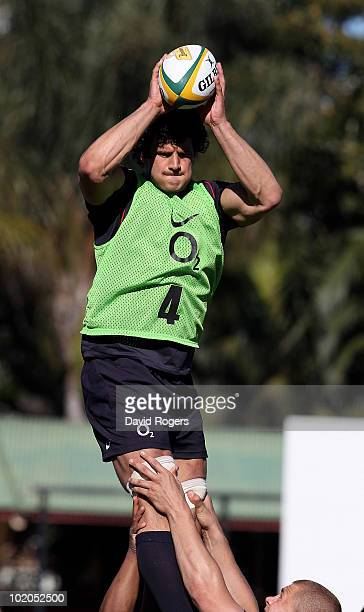 Dan Ward Smith of England in lineout action during the England training session held at the North Sydney Oval on June 14 2010 in Sydney Australia