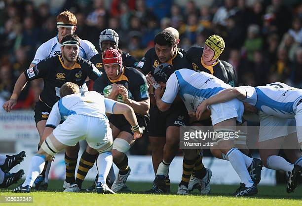 Dan WardSmith of London Wasps in action during the Heineken Cup match between London Wasps and Glasgow Warriors at Adam Park on October 17 2010 in...