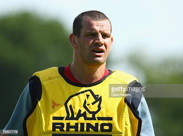 Dan WardSmith pictured during the England rugby union training session held at Bath University on August 1 2007 in Bath England