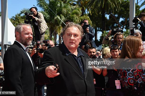Dan Warner and Gerard Depardieu attend the Premiere of 'Valley Of Love' during the 68th annual Cannes Film Festival on May 22 2015 in Cannes France