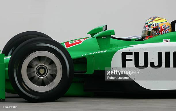 Dan Wheldon driver of the Chip Ganassi Fujifilm Dallara Honda during practice for the IRL IndyCar Series ABC Supply/ AJ Foyt 225 on July 21 2006 at...