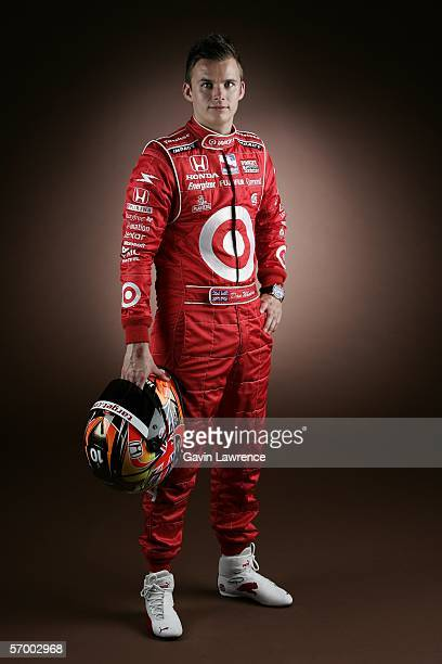 Dan Wheldon driver of the Target Ganassi Racing Dallara Honda poses for his portrait during the media day for the IRL Indycar Series on March 4 2006...