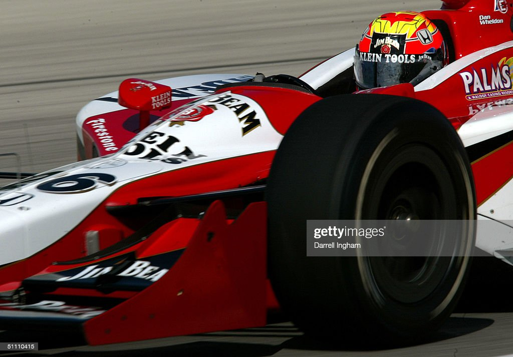 Dan Wheldon drives the #26 Andretti Green Racing Jim Beam/Klein Tools Honda Dallara during practice for the Indy Racing League IndyCar Series Menards A.J. Foyt Indy 225 on July 23, 2004 at the Milwaukee Mile in Milwaukee, Wisconsin.