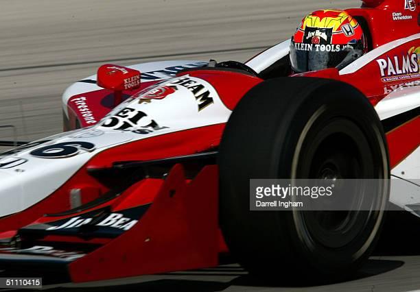 Dan Wheldon drives the Andretti Green Racing Jim Beam/Klein Tools Honda Dallara during practice for the Indy Racing League IndyCar Series Menards AJ...