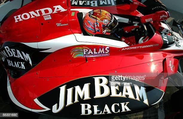 Dan Wheldon drives the Andretti Green Racing Klein Tools/Jim Beam Dallara Honda during practice for the Indy Racing League IndyCar Series Peak...