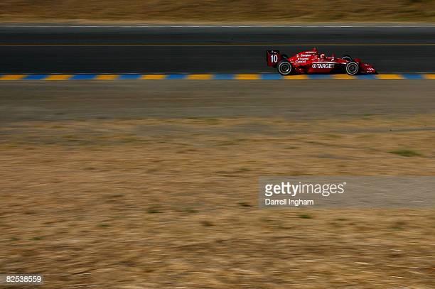 Dan Wheldon drives the Target Chip Ganassi Racing Dallara Honda during the IRL IndyCar Series PEAK Antifreeze Motor Oil Indy Grand Prix of Sonoma...