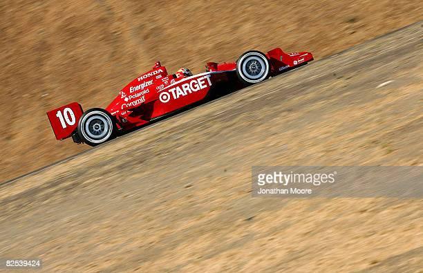 Dan Wheldon drives the Target Chip Ganassi Racing Dallara Honda during the IRL Indy Car Series PEAK Antifreeze Motor Oil Grand Prix of Sonoma County...