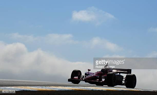 Dan Wheldon drives the Target Chip Ganassi Racing Dallara Honda during warm up for the IndyCar Series PEAK Antifreeze Motor Oil Indy Grand Prix of...