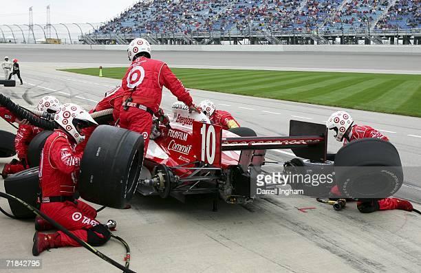 Dan Wheldon pits the Target Ganassi Racing Dallara Honda the IRL IndyCar Series PEAK Antifreeze Indy 300 on September 10 2006 at the Chicagoland...