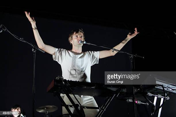 Dan Whitford of Cut Copy performs on stage during the final day of Primavera Sound 2014 at Parc Del Forum on May 31 2014 in Barcelona Spain