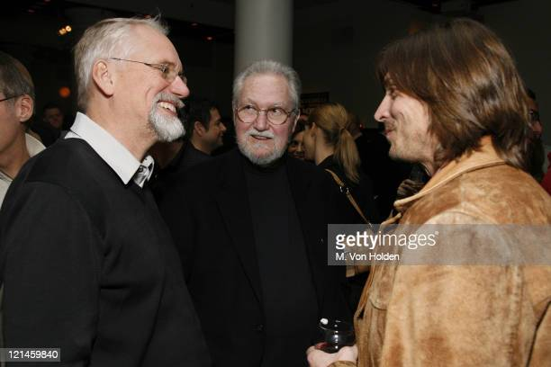 Dan Wieden Alex Bogusky David Kennedy during The One Club and Weiden and Kennedy honor ' Jim Riswold' at The Helen Mills Theatre in New York City New...