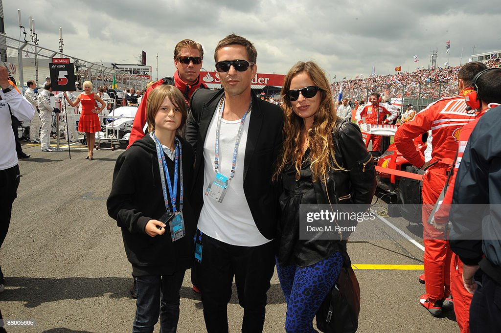 Dan Williams Jade Jagger And Guest Attend The British F1 Grand Prix