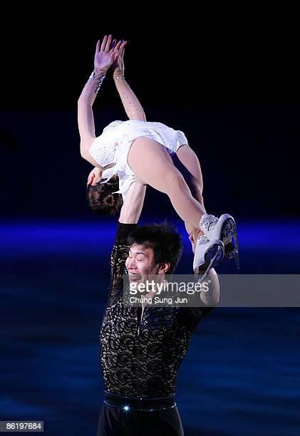 Dan Zhang and Hao Zhang of China perform during Festa on Ice 2009 at KINTEX on April 24 2009 in Goyang South Korea