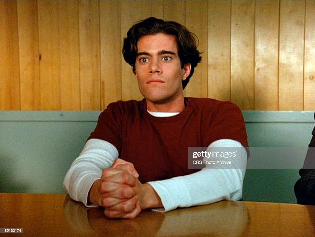 Dana Ashbrook as Bobby Briggs in the pilot episode of the hit television show 'Twin Peaks', 1990.