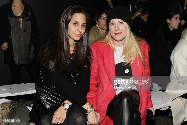 Dana Avadne Cohen Senior Market Editor for InStyle and Sarah Conley Editor for Cosmopolitan Magazine attend the ICB By Prabal Gurung fashion show...