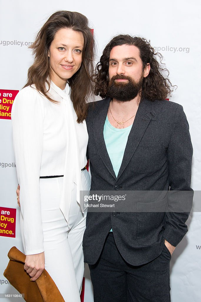 Dana Balicki (L) and Ryan Schnieder attend the 2013 re:FORM Art Benefit at C24 Gallery on March 4, 2013 in New York City.