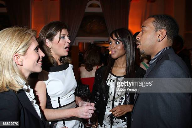 Dana Bash Norah O'Donnell Kerry Washington and Ludacris attend the PEOPLE and TIME cocktail party on eve of White House Correspondent�s Dinner at St...