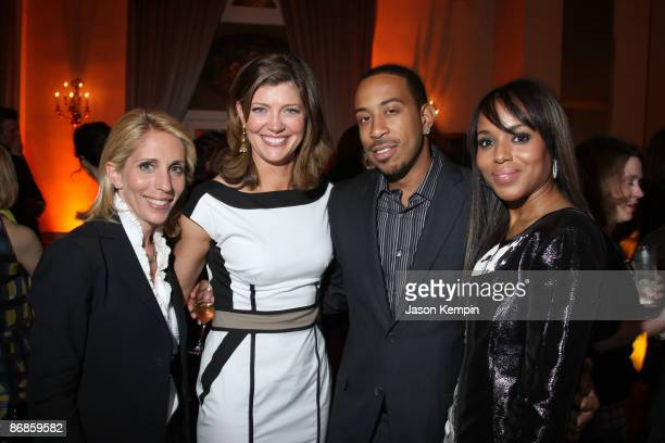 Dana Bash Norah O'Donnell Ludacris and Kerry Washington attend the PEOPLE and TIME cocktail party on eve of White House Correspondent�s Dinner at St...