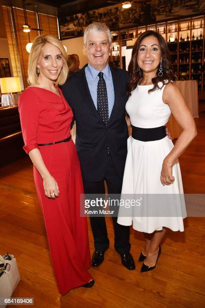 Dana Bash President of Turner David Levy and President of Ad Sales at Turner Donna Speciale attend the Turner Upfront 2017 green room at Lugo Cucina...