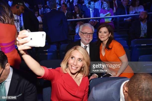 Dana Bash, Wolf Blitzer, and Wolf Blitzer take a selfie during the Turner Upfront 2017 show at The Theater at Madison Square Garden on May 17, 2017...