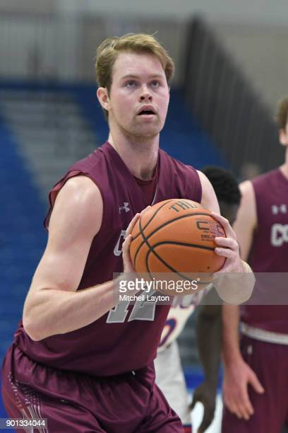 Dana Batt of the Colgate Raiders takes a foul shot during a college basketball game against the American University Eagles at Bender Arena on January...