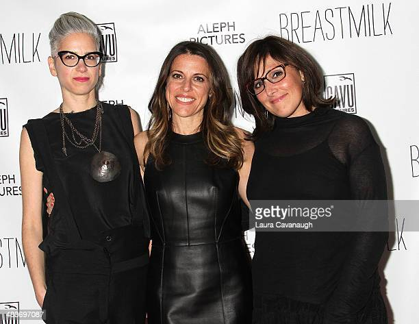 Dana BenAri Abby Epstein and Ricki Lake attend the 'Breast Milk' premiere at IFC Center on May 7 2014 in New York City