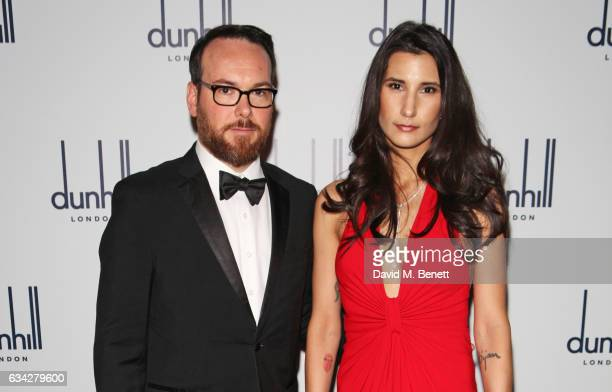 Dana Brunetti and Alex Pakzad attend the dunhill and Dylan Jones preBAFTA dinner and cocktail reception celebrating Gentlemen in Film at Bourdon...