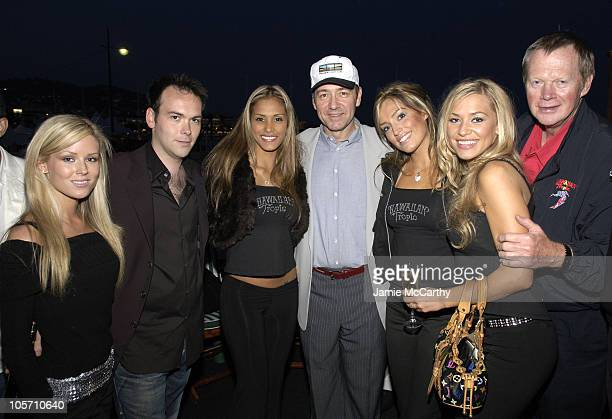 Dana Brunetti Kevin Spacey with Hawaiian Tropic Models and Ron Rice Owner and Founder of Hawaiian Tropic