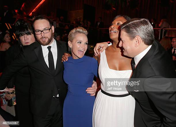 Dana Brunetti Kristin Chenoweth Nicole Avant and Netflix chief content officer Ted Sarandos attend Moet Chandon at The Weinstein Company's 2014...
