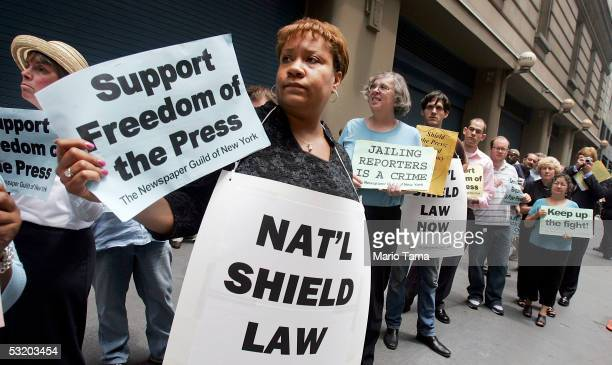 Dana Canedy New York Times assignment editor for national news and other members of The Newspaper Guild of New York protest in support of Time...
