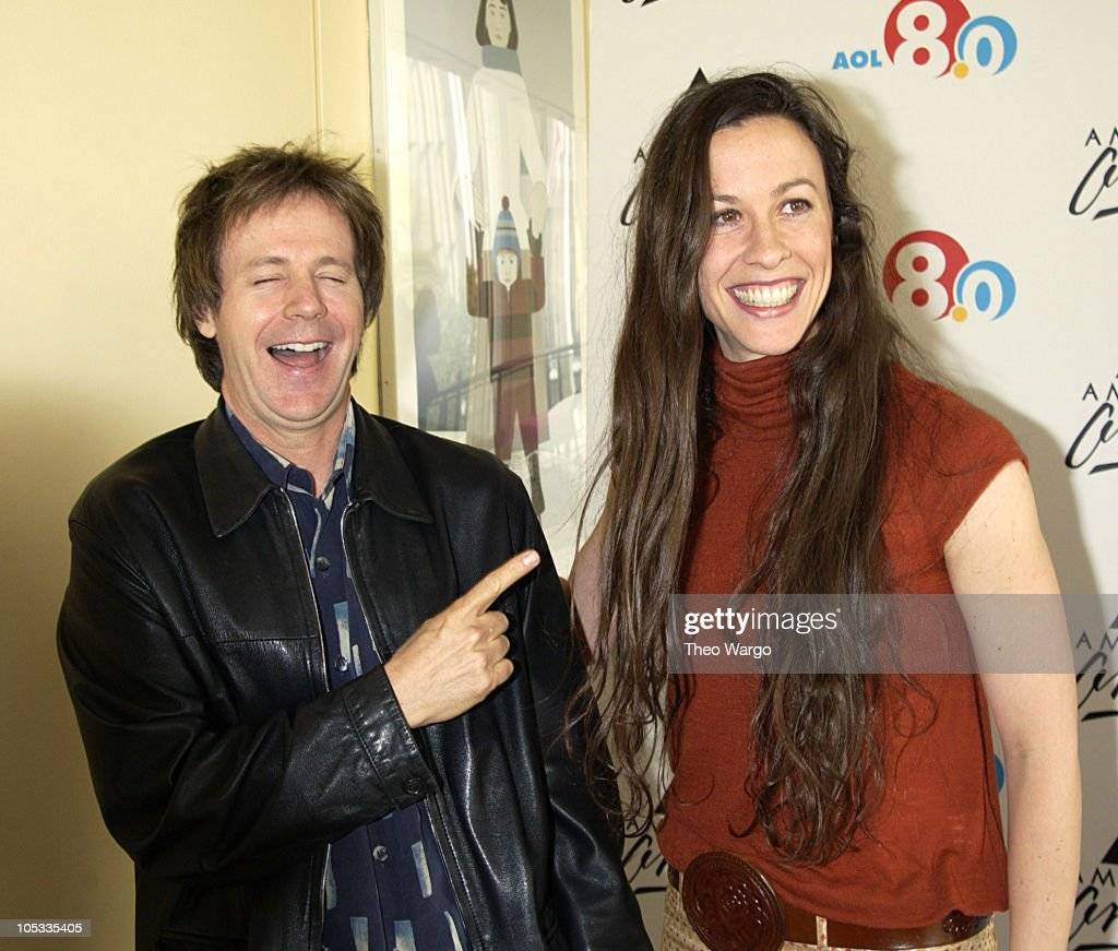 Dana Carvey and Alanis Morissette during AOL 8.0 Launch and Member Celebration at Avery Fischer Hall in New York City, New York, United States.
