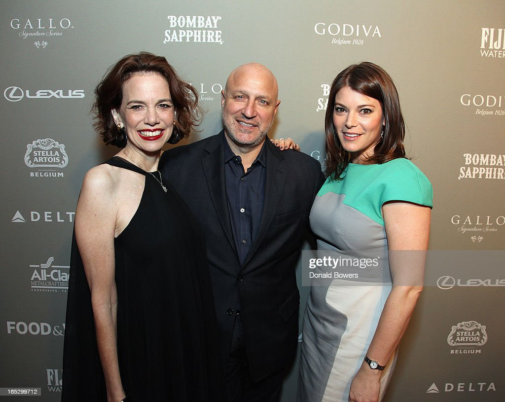 Dana Cowin, Tom Colicchio and Gail Simmons attend The FOOD & WINE 2013 Best New Chefs Party at Pranna Restaurant on April 5, 2013 in New York City.