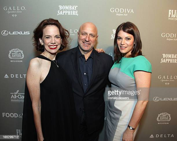 Dana Cowin Tom Colicchio and Gail Simmons attend The FOOD WINE 2013 Best New Chefs Party at Pranna Restaurant on April 5 2013 in New York City