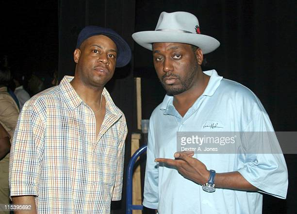 Dana Dane and Big Daddy Kane during HOT 937 FM Presents Old Skool Rap Concert at Hipp A Drome in Springfield Massachusetts United States