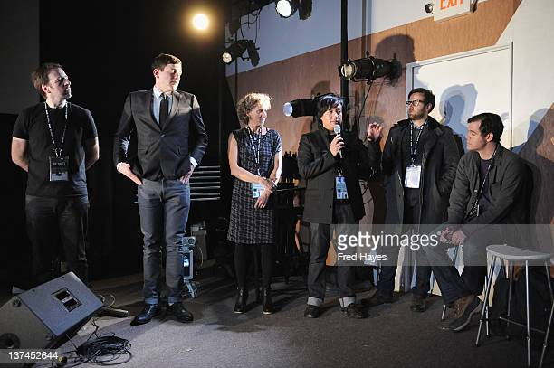 Dana Dansereau Jeremy Mendes Leanne Allison Loc Dao Pablo Vio and Lance Weller attend the Bear 71 Launch Event during the 2012 Sundance Film Festival...