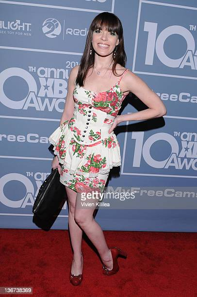 Dana DeArmond attends the 10th Annual XBIZ Awards at The Barker Hanger on January 10 2012 in Santa Monica California