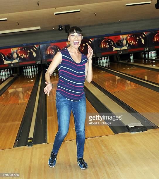 Dana Dearmond participates in Porn Star Bowling for the Free Speech Coalition held at Corbin Bowl on July 28 2013 in Tarzana California