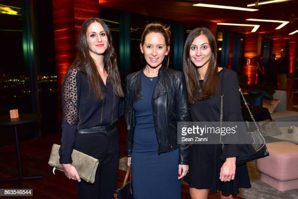 Dana Decuzzi Rachael Switkes and Nicole Auletta attend American Copper Building's Skybridge party hosted by JDS Development at American Copper...